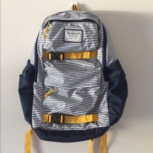 Blue, Yellow, White Striped Backpack from Burton