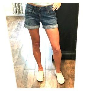 J. Crew blue jean cuffed shorts