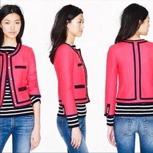 J. Crew Lady Jacket Double Serge Wool Size 0 NWT