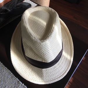 Hat with Black Ribbon