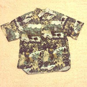 Vintage Hawaiian Shirt Large w/ Gorgeous Print