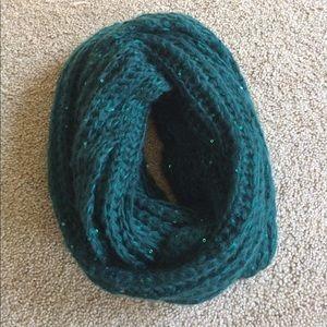 Green Sequin Infinity Scarf