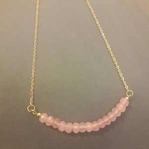 Jewelry - Pink Stone Beaded Necklace