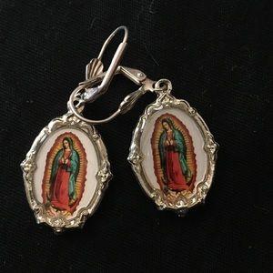 Virgin Mary  charm earrings