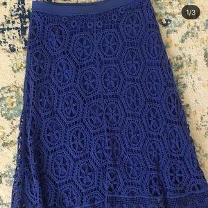 Anthropologie royal blue skirt - hits below knees