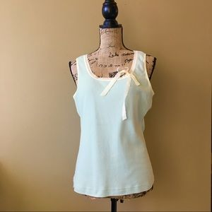Anthropologie ribbon trim ribbed tank
