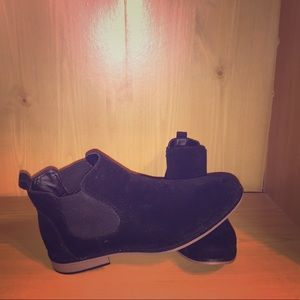 Other - Faux Suede Chelsea Boots