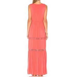 ALE by Alessandra Dresses - Juliana Maxi Dress in Coral Crush