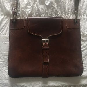Dooney & Bourke Brown Leather Shoulder Purse