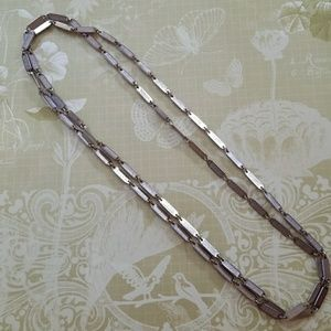 Vintage layering silver link chain