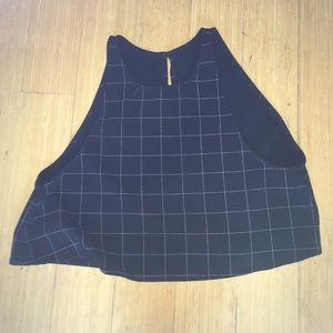 American apparel backless crop top