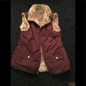 Faux fur vest from Gap - S