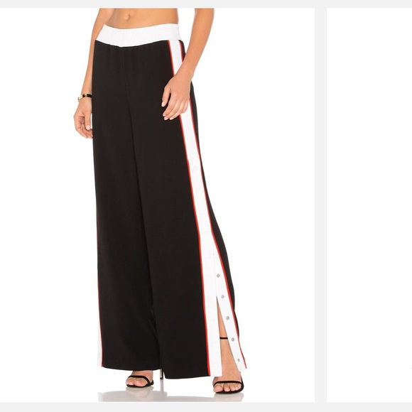 Kendall & Kylie Pants - Kendall + Kylie Snap Track Pant