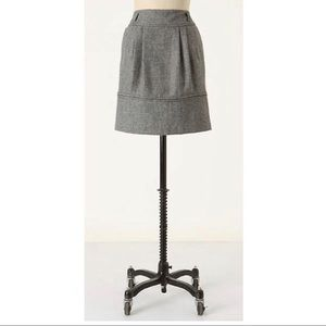 Anthro's Girls From Savoy Wool Haute Skirt