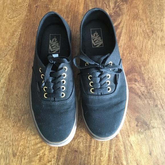 827e8ef90548 Vans Shoes | Authentic Black Rubber Mens Size 8 | Poshmark