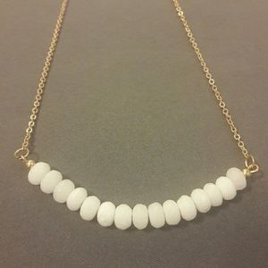 Jewelry - White Stone Beaded Necklace