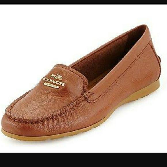 e30eac9e832 Coach Shoes - COACH saddle tan Leather MARY LOCK UP NWOB
