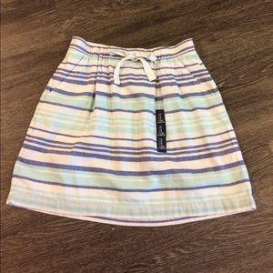 Gap Striped Linen Skirt