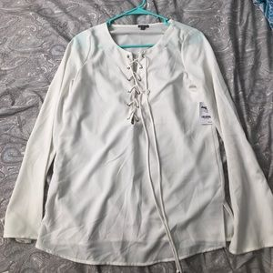 Charlotte Russe Lace Up Front Blouse