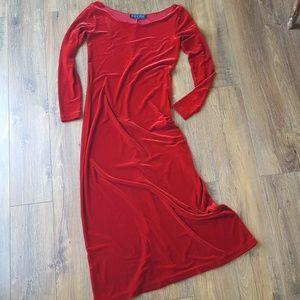 STUNNING vintage Ralph Lauren velvet dress
