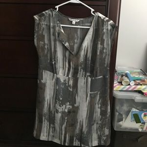 Abstract design, sleeveless top