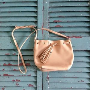 EUC J. Crew mini bucket bag in leather