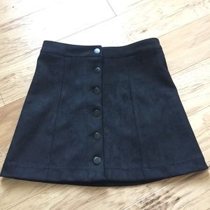 NWT black button up mini skirt