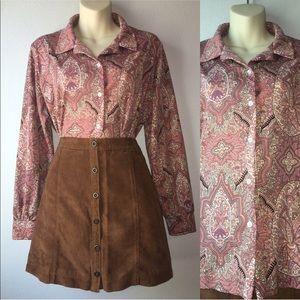 1970s button up shirt