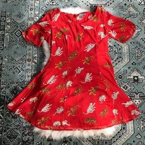 ASOS | Fit & Flare Tiger Dress