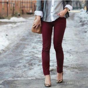 Jcrew maroon corduroy pants