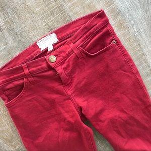 Current/Elliott the ankle skinny jeans in crimson
