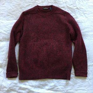 Vintage Virgin Wool Burgundy Sweater