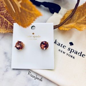 Kate Spade Crystal Brown Gumdrops earring