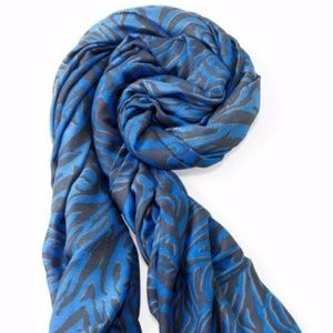 Luxembourg Scarf-Cerulean Tiger