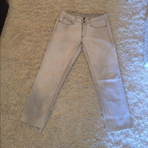 Grey Earnest Sewn Cropped Jeans