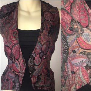 1980s tapestry vest