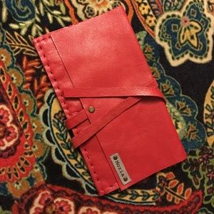 Handbags - 😍 Moira Leather Wrap Wallet Clutch Red