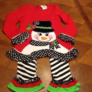 Little girls Christmas/winter outfit