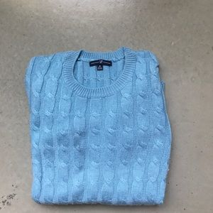 GAP cable knit sweater in sky blue
