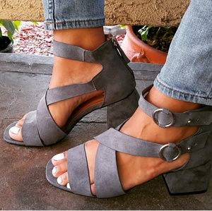 🆕//The Shannon// Steel Grey criss cross Sandal
