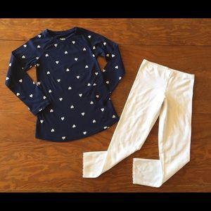 Girls Justice long sleeve top & Leggings Outfit 8