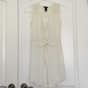 white button up dress from H&M