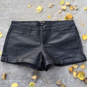 Forever 21 Leather Shorts