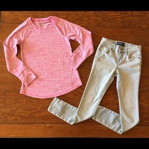 Girls Justice long sleeve top & Jeans Outfit 8