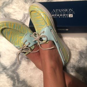 Sperry Sequined Pop o Color Loafers BRAND NEW Sz10