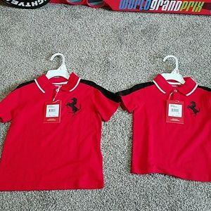 Ferrari Polo shirts size 2T and 4T