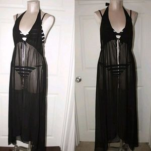 New Francesca's SwimSuit Tie Front Cover Up Robe
