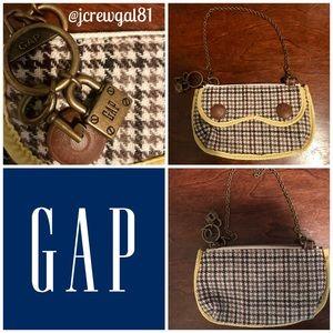GAP Houndstooth Clutch, Brown Yellow Wristlet 8x5