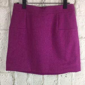 Wool blend J.Crew purple mini skirt