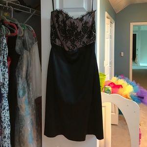 White House Black Market Cocktail strapless dress